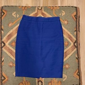 JCrew no.2 royal blue pencil skirt